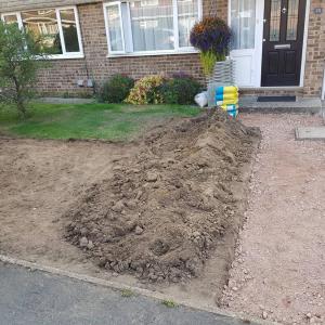 Front Garden Makeover in Progress Tongham