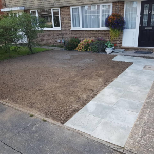 Front Garden Makeover in nearly completed Tongham