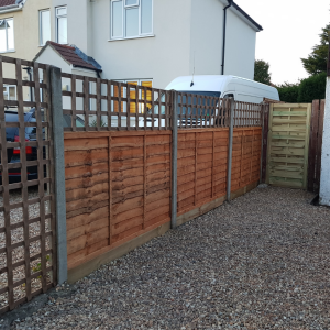 replaced for new front Fencing and side Gate in Fleet